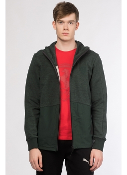 Puma Erkek Sweatshirt - Ferrari Hooded Sweat Jacket Green Ürün Resmi